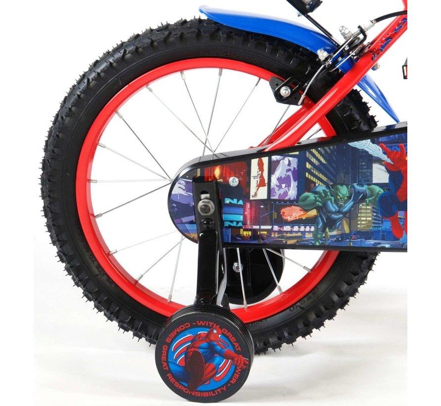 Ultimate Spider-Man Kinderfiets - Jongens - 16 inch - Rood Zwart - 2 handremmen