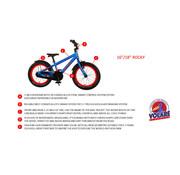 Volare Volare Rocky Kinderfiets - 16 inch - Zwart Blauw - 95% afgemonteerd - Prime Collection