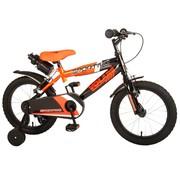 Volare Volare Sportivo Kinderfiets - Jongens - 16 inch - Neon Oranje Zwart - Twee Handremmen - 95% afgemonteerd
