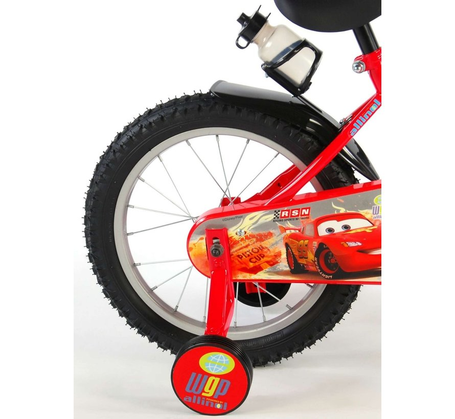 Disney Cars Kinderfiets - Jongens - 16 inch - Rood