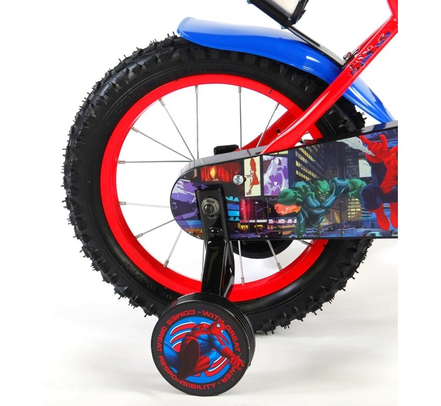 Ultimate Spider-Man Kinderfiets - Jongens - 14 inch - Rood Blauw