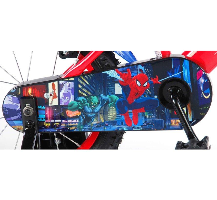 Ultimate Spider-Man Kinderfiets - Jongens - 14 inch - Rood Blauw Zwart - 2 handremmen