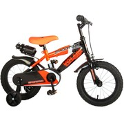 Volare Volare Sportivo Kinderfiets - Jongens - 14 inch - Neon Oranje Zwart - 95% afgemonteerd