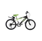 Volare Volare Sportivo Kinderfiets - Jongens - 20 inch - Neon Groen Zwart - 6 versnellingen