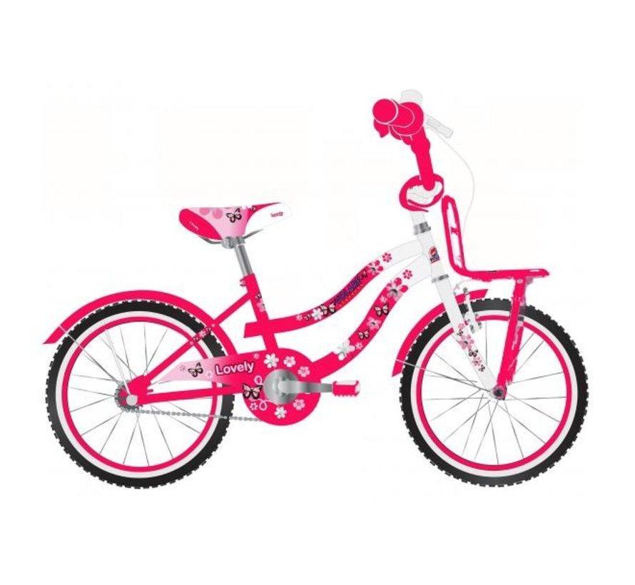 Volare Lovely Kinderfiets - Meisjes - 20 inch - Rood Wit