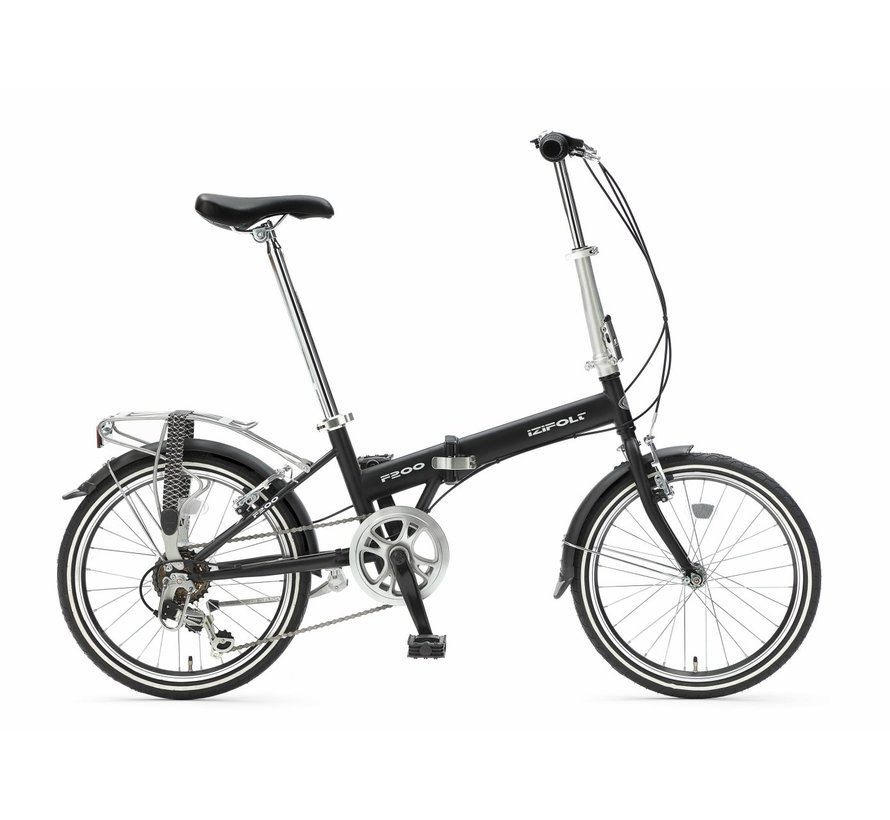 F200 PRO :: Zwart + Bagagedrager :: 20 inch