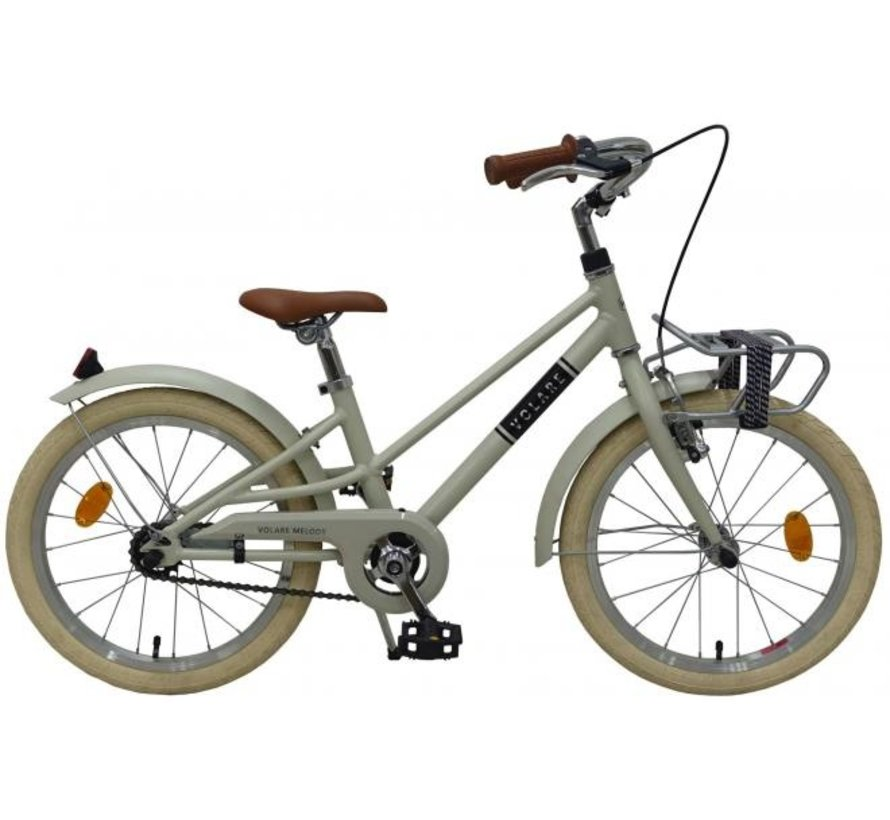 Volare Melody Kinderfiets - Meisjes - 18 inch - Zand - Prime Collection
