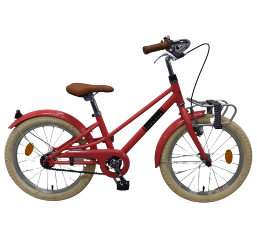 Volare Volare Melody Kinderfiets - Meisjes - 18 inch - Pastel Rood - Prime Collection
