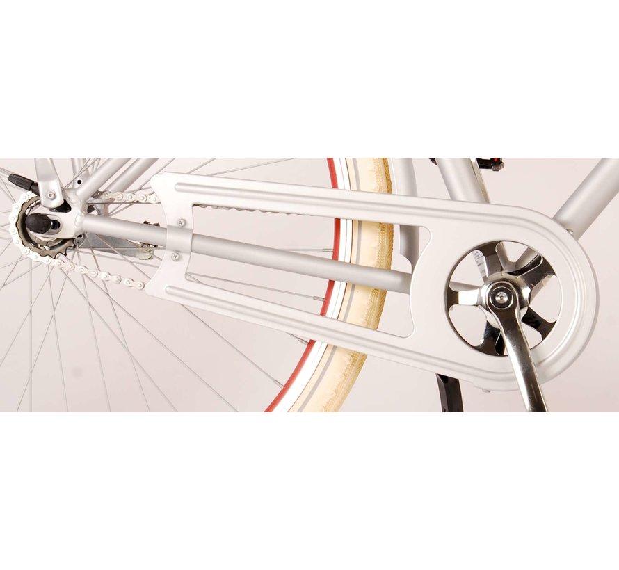 Volare Classic Oma Damesfiets - 28 inch - 48 centimeter - Mat Zilver
