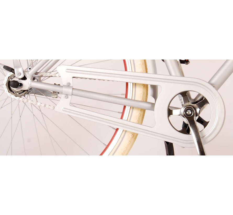 Volare Classic Oma Damesfiets - 28 inch - 45 centimeter - Mat Zilver