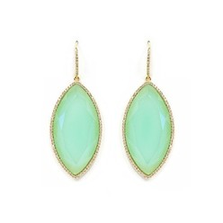 PAVE MARQUISE EARRINGS IN CHALCEDONY