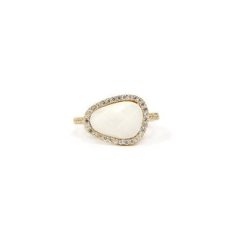MELANIE AULD PAVE NATURAL RING IN MOP