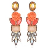 SUZANNA DAI FIJI DROP EARRINGS IN BLUSH/CORAL