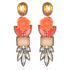 FIJI DROP EARRINGS IN BLUSH/CORAL