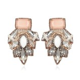 SUZANNA DAI BARSELOI BUTTON EARRINGS IN BLUSH