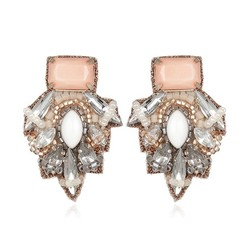 BARSELOI BUTTON EARRINGS IN BLUSH