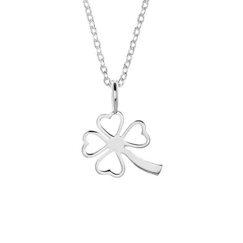 SAMANTHA FAY CLOVER NECKLACE IN SILVER