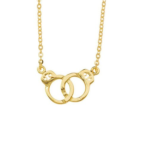 SAMANTHA FAY HANDCUFFS NECKLACE IN GOLD