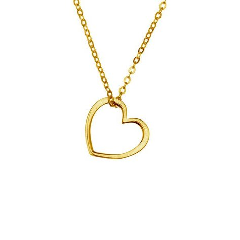 SAMANTHA FAY HEART NECKLACE IN GOLD