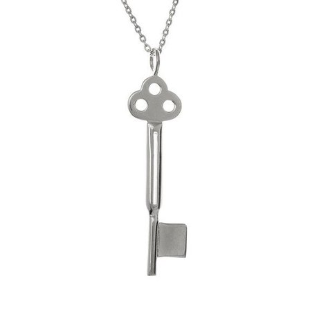 SAMANTHA FAY KEY NECKLACE IN SILVER