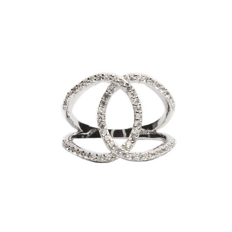 ALEX MIKA KOKO RING IN WHITE GOLD