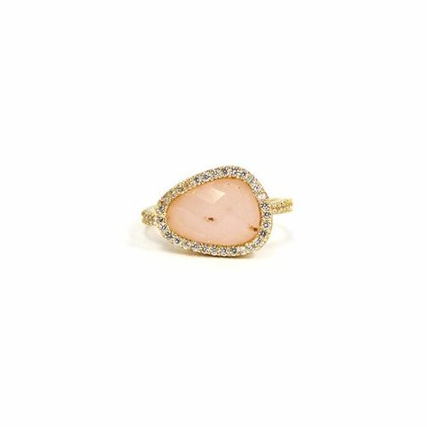 MELANIE AULD PAVE NATURAL RING IN PINK OPAL