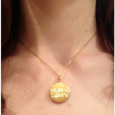 SAMANTHA FAY PARIS NECKLACE IN GOLD