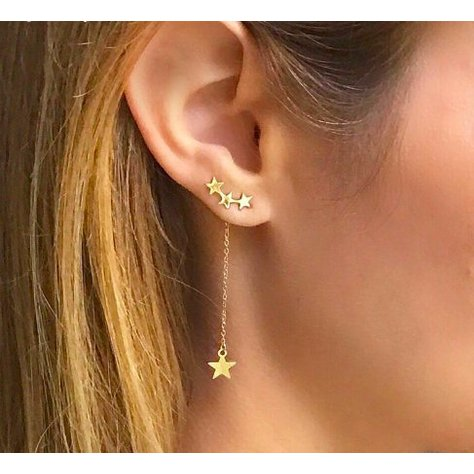 TWINKLE STAR STUD HANGER IN GOLD