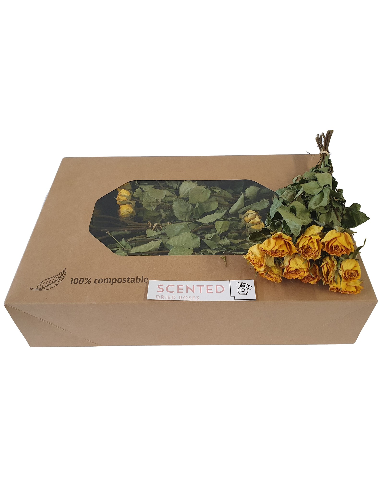 Dried scented roses 10pc per bunch Yellow x 8