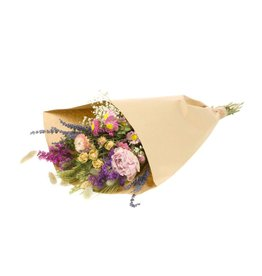 Field bouquet large natural pink x 8