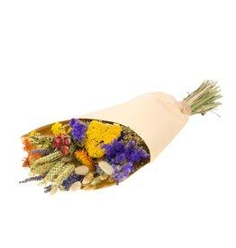 Field bouquet medium natural orange x 10