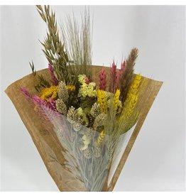 Dried Bouquet Cross Pink&yellow x 1