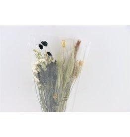 Dried Bouquet Cross Black&white x 1