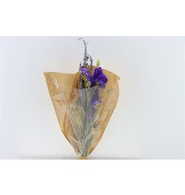 Dried Bouquet Cross Natural Blue x 1
