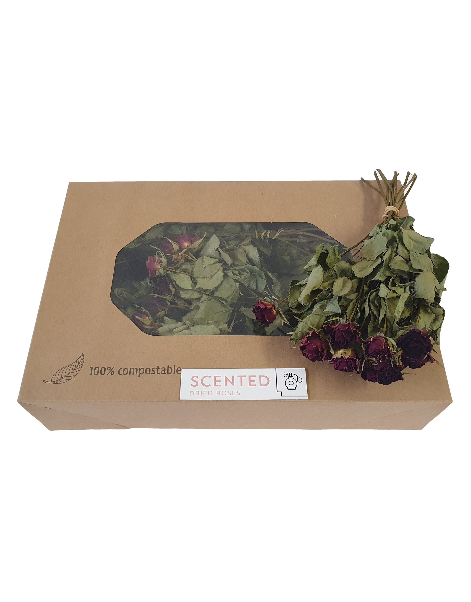 Dried scented spray roses 10pc per bunch Burgundy x 8