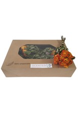 Dried scented roses 10pc per bunch Orange x 8