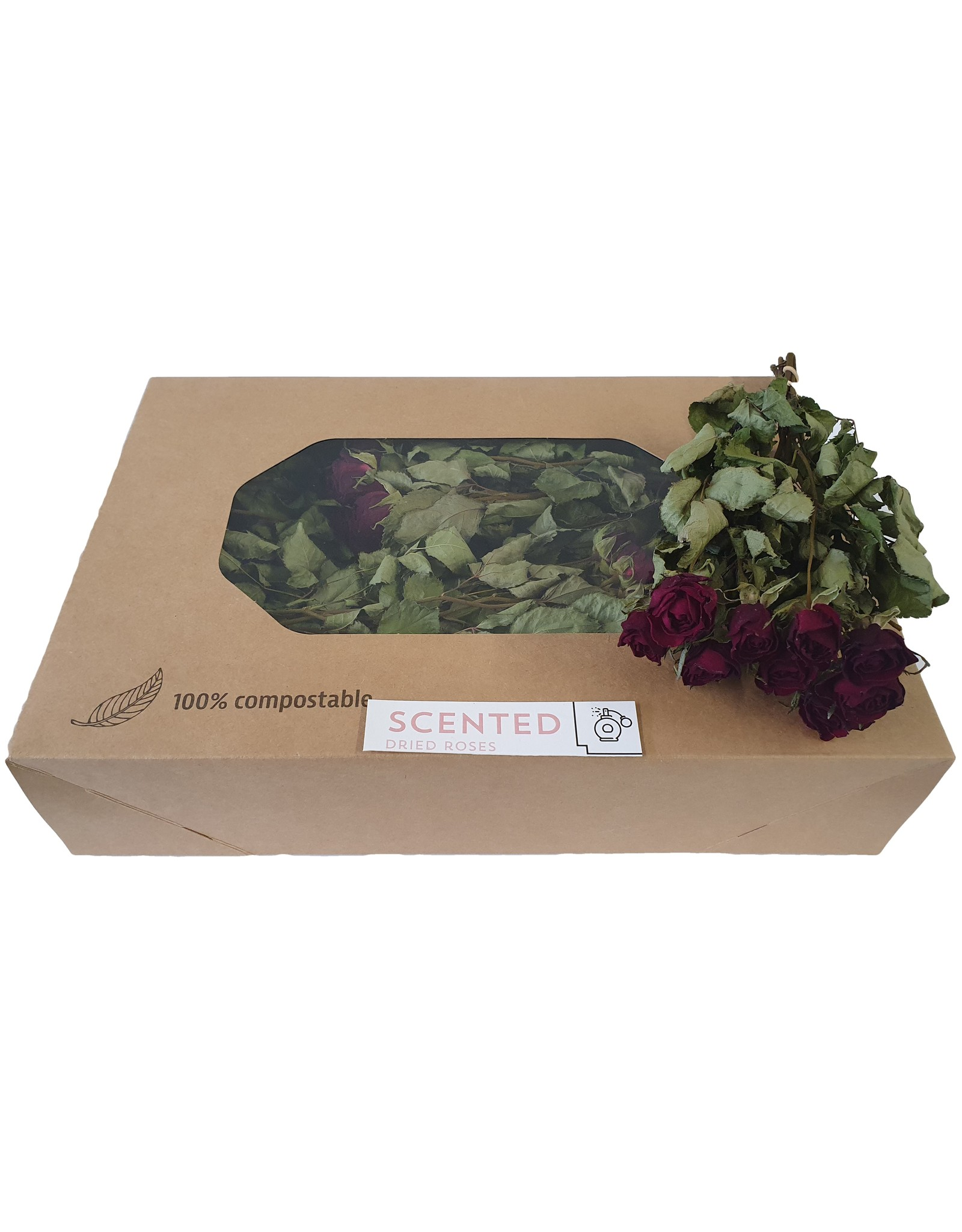 Dried scented roses 10pc per bunch Red x 8