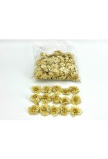 Dried Dahlia Heads White Bag (50-60 Heads) x 1