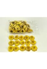 Dried Dahlia Heads Yellow Bag (50-60 Heads) x 1