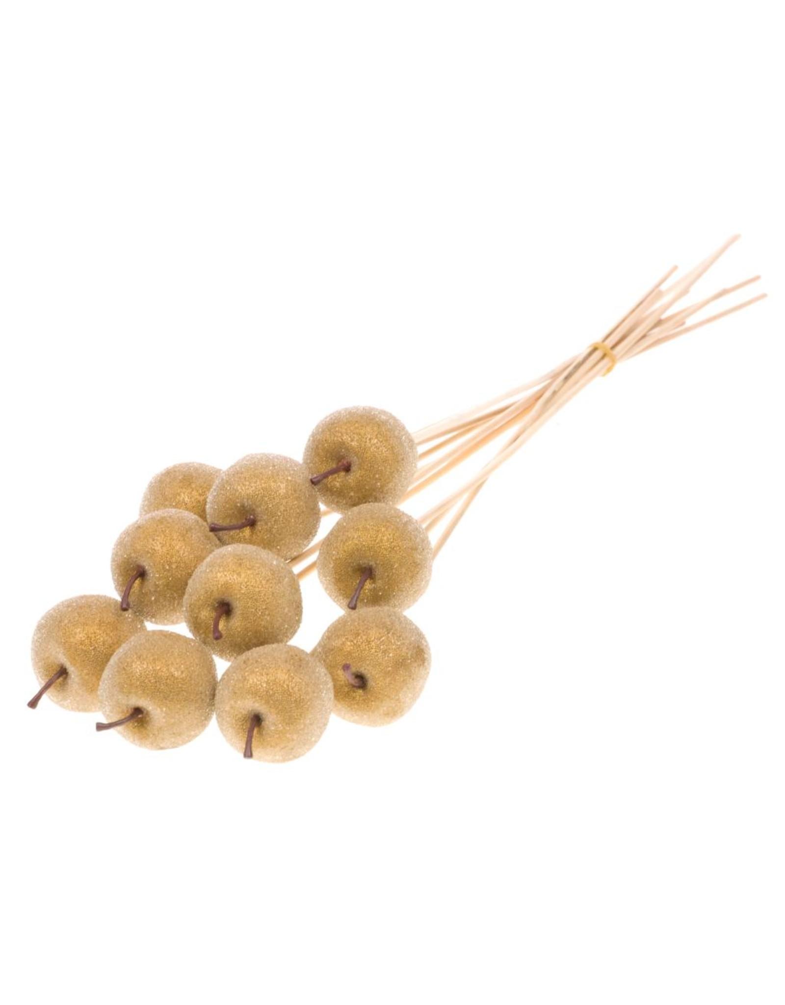 Apple sugar 5cm o/s 10pc gold x 20