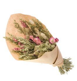 Dried flower mix bouquet 55cm avena, delph, helich x 6