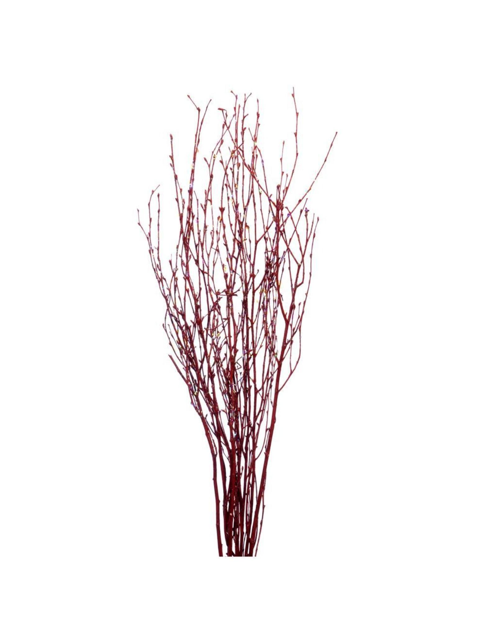 Birch 115cm 3pc red red glitter x 35