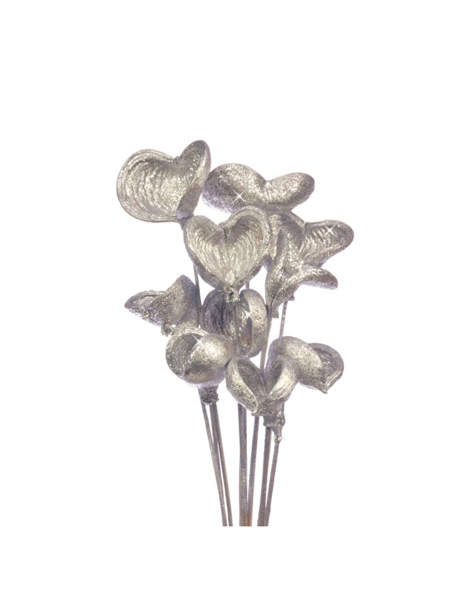 Badam o/s 10pc silver silver glitter x 15