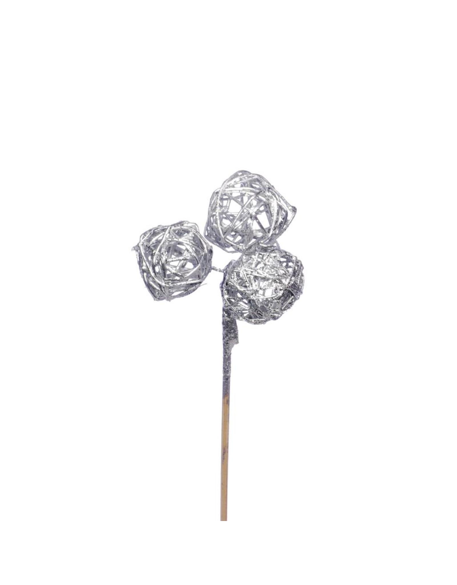 Brunch ball mini 3pc o/s 10pc silv. silver glitter x 18