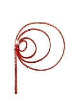 Cane coil 10pc red red glitter x 30