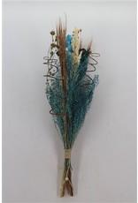Dried Bouquet Luxo Gold Light Blue x 5