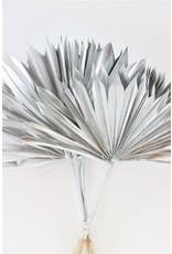 Dried Palm Sun 6pc Silver Bunch x 3