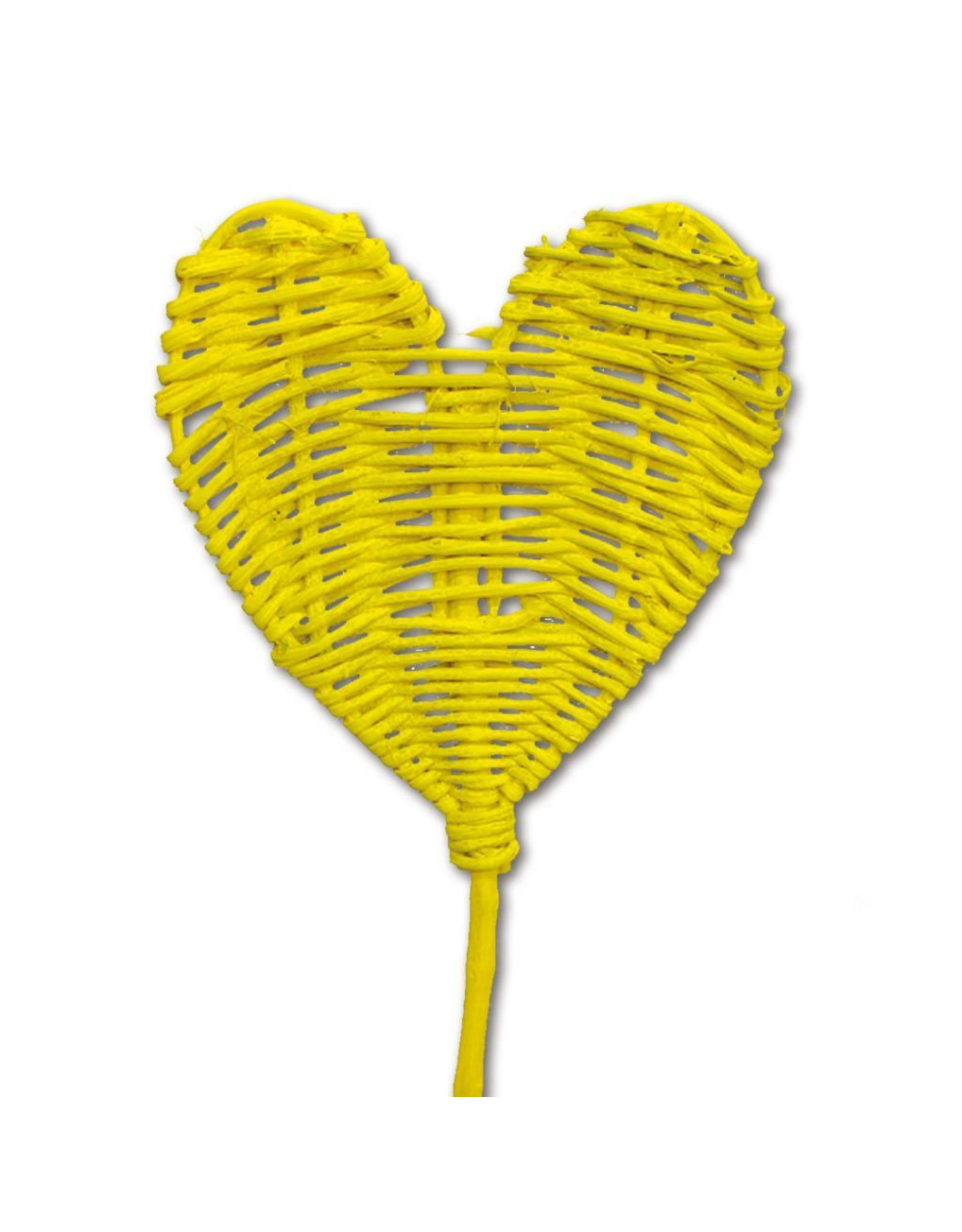 Lata heart upright o/s 10pc yellow spring x 24