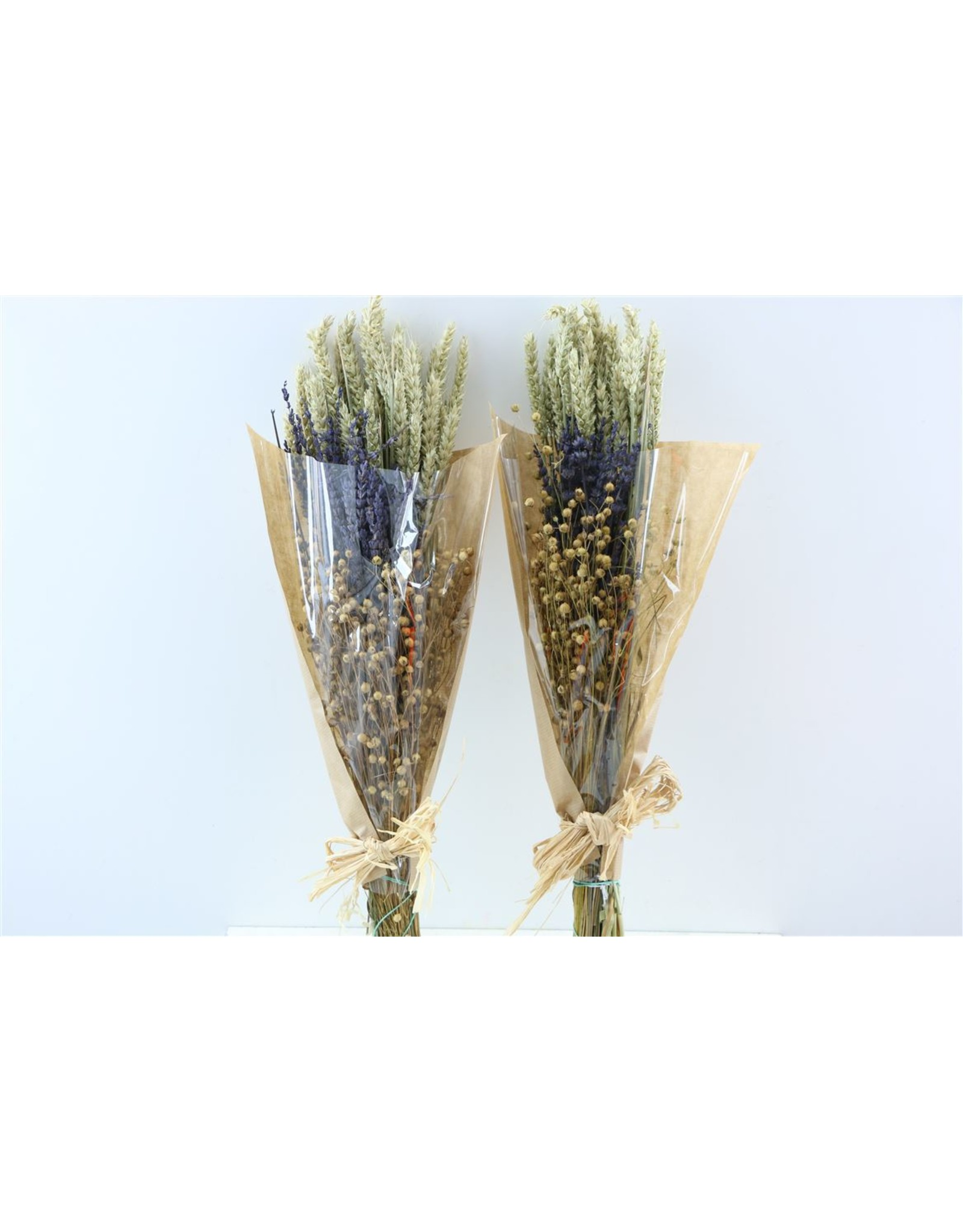 Dried Bouquet Deluxe Triticum/lavendel/lino x 20