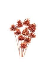 LDD Pine cone 5-7cm o/s 10pc copper x 12